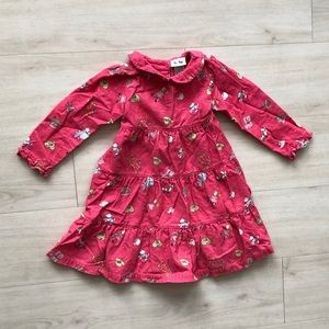 Le top corduroy dress pink 4t collared printed